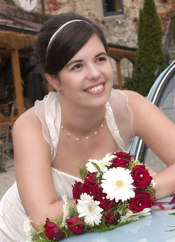 Braut klassische Brautfrisur