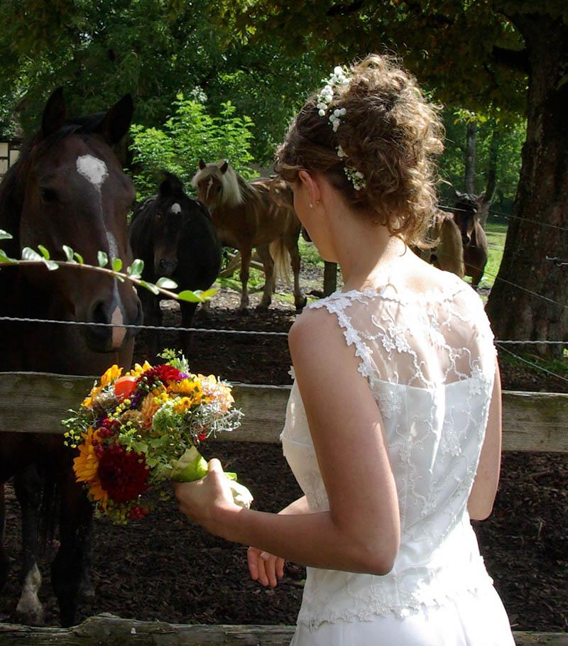 natürliche Braut Frisur