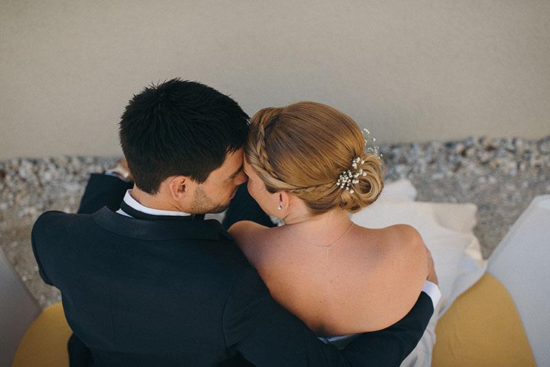 Brautpaar Brautfrisur klassisch mit Schleierkraut