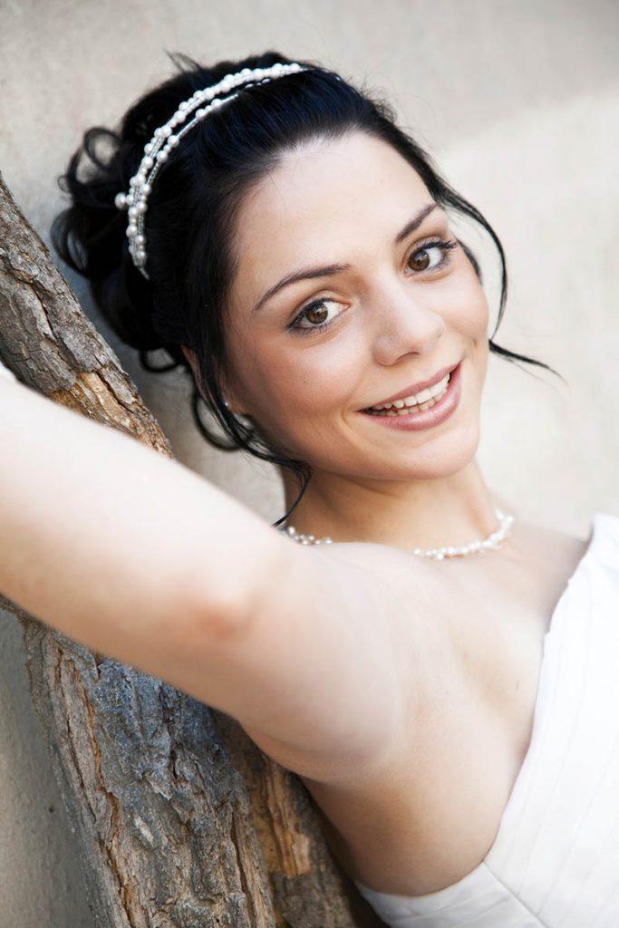 Braut-Make-up Brautstyling Haarschmuck