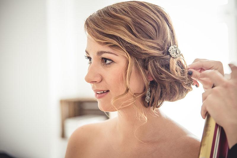 Braut Brautfrisur Haarschmuck Spange